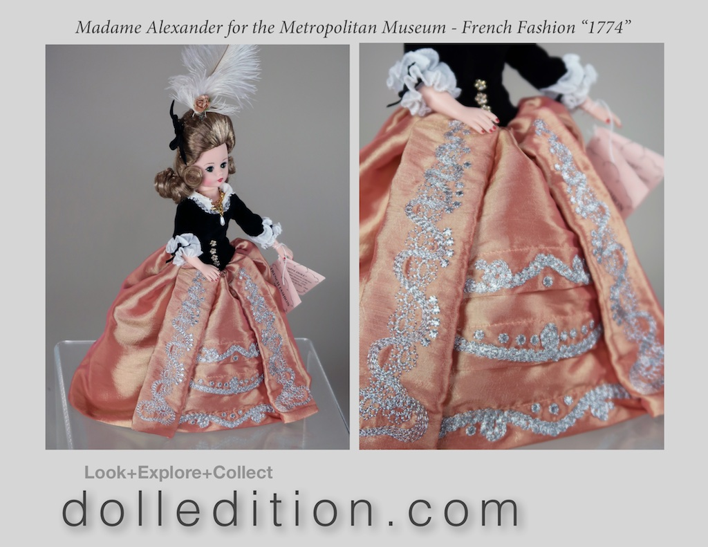 """Cissette"" dressed in French fashion from 1774. Interestingly, this is what Thomas Jefferson and Benjamin Franklyn would have seen during their time in Paris, France raising money, arms, ships and military for the American Revolution."