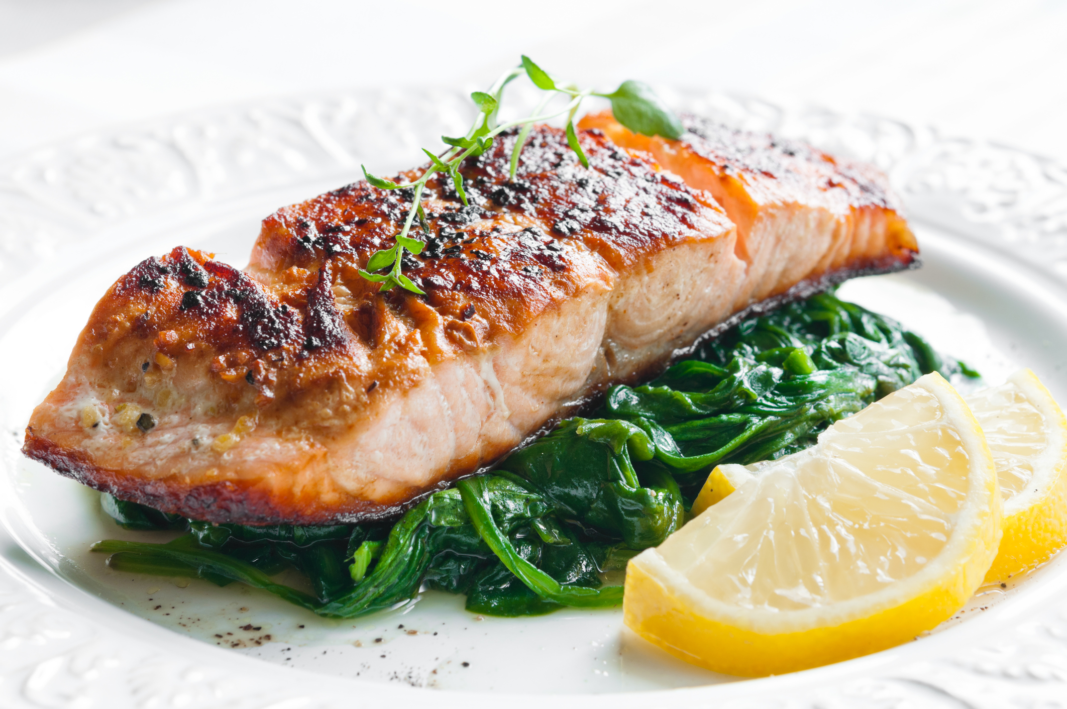 The Vintage Olive's Coffee BBQ Salmon