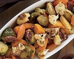 Maple-Ginger Roast Vegetables