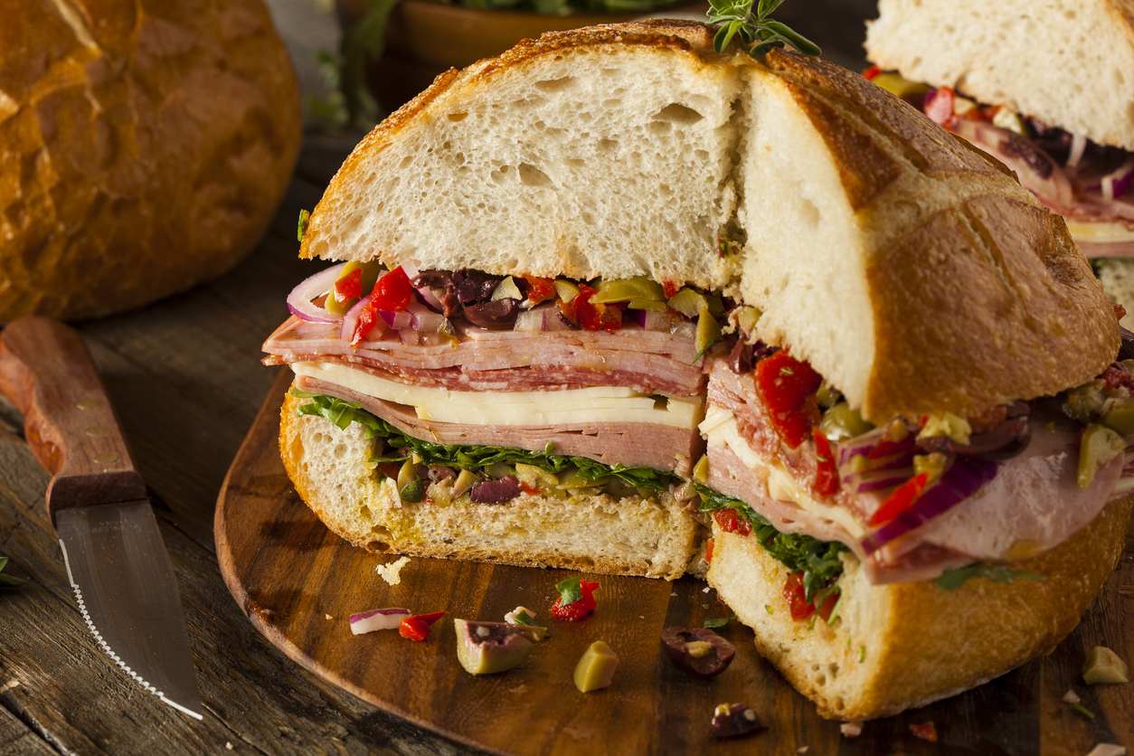 Muffuletta Italian Sandwich