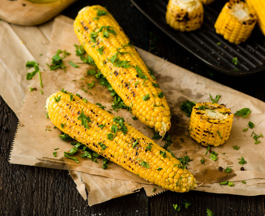 Corn on the Cob with Olive Oil