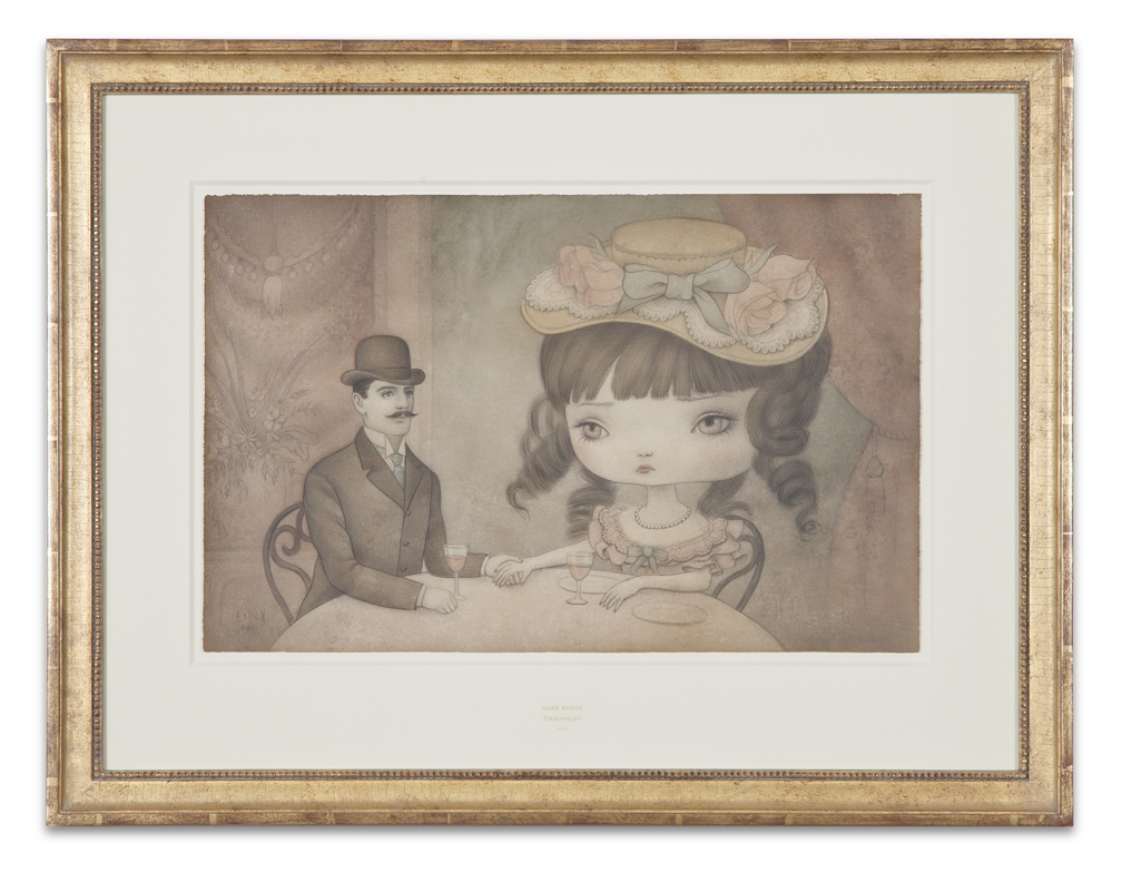 "Mark Ryden, ""Sweetheart,"" 2011, graphite and watercolor on paper, 22 x 29 inches"
