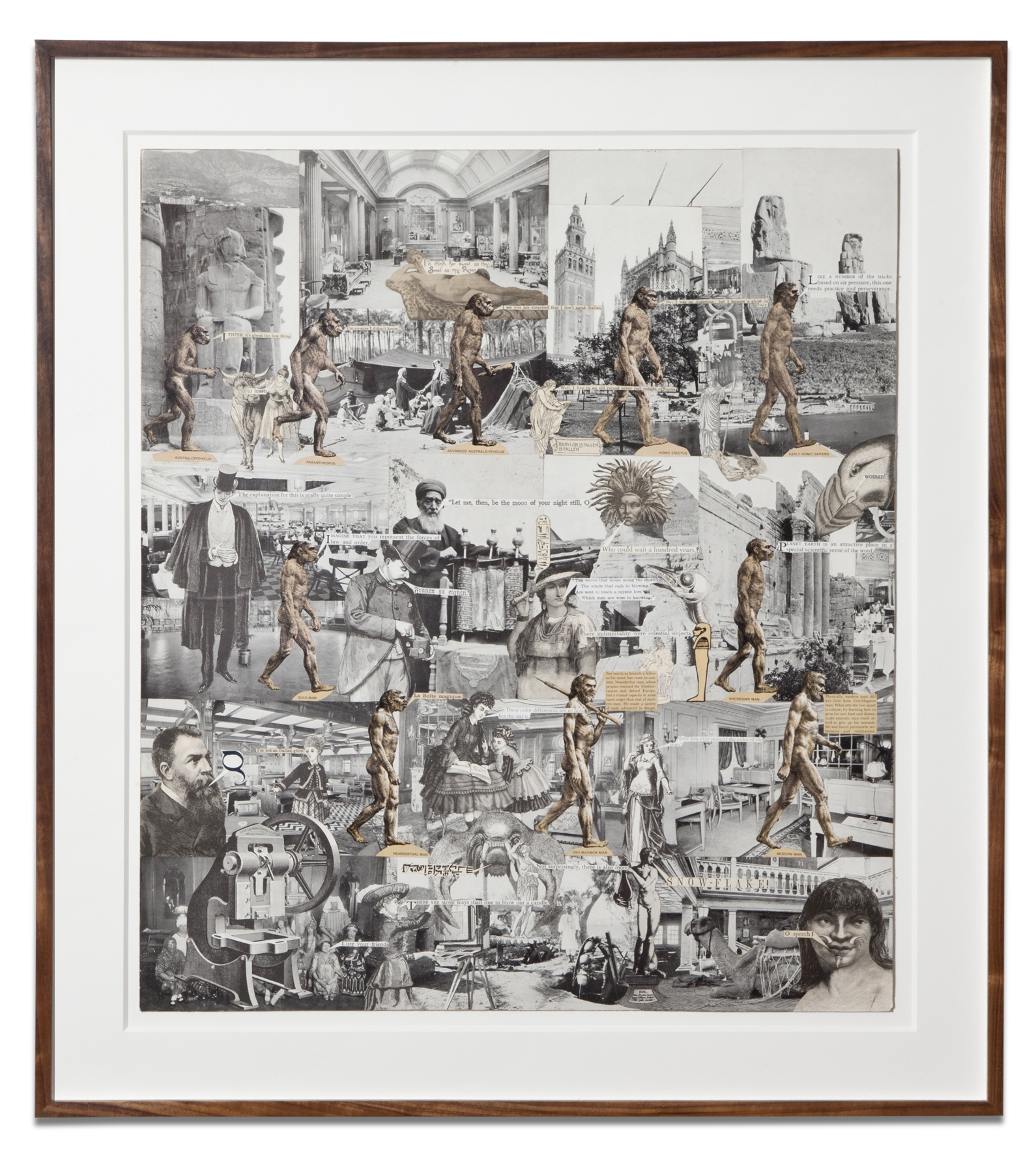 Lawrence Jordan, HISTORY OF MAN, 2012, collage, 26 X 23 inches