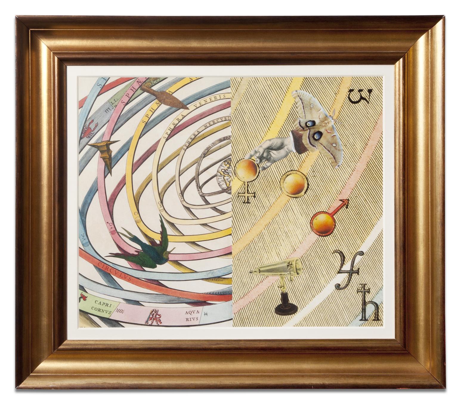 Lawrence Jordan, SPHAERA VENERIS, 2013, collage, 21 x 25 inches
