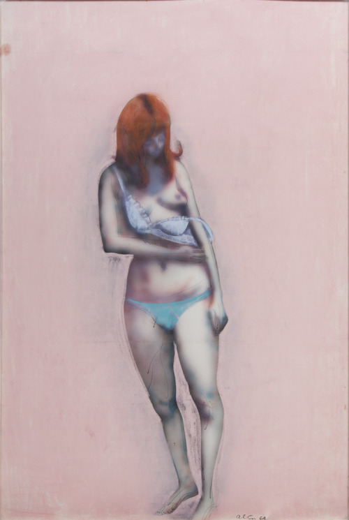 John Altoon,  Untitled (F-14) , 1962-63, pastel and ink on board