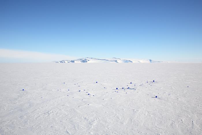 Stellar Axis: Antarctica, 2006. Ross Ice Shelf, Antarctica (photo credit: Jean de Pomereu)