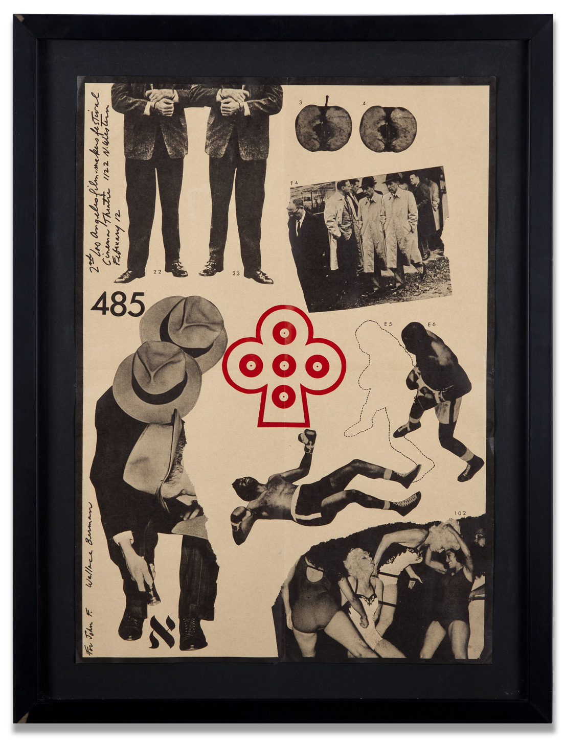 "Wallace Berman, ""Untitled (2nd Annual LA Filmmakers Festival),"" 1963, poster, 21 x 16 inches"