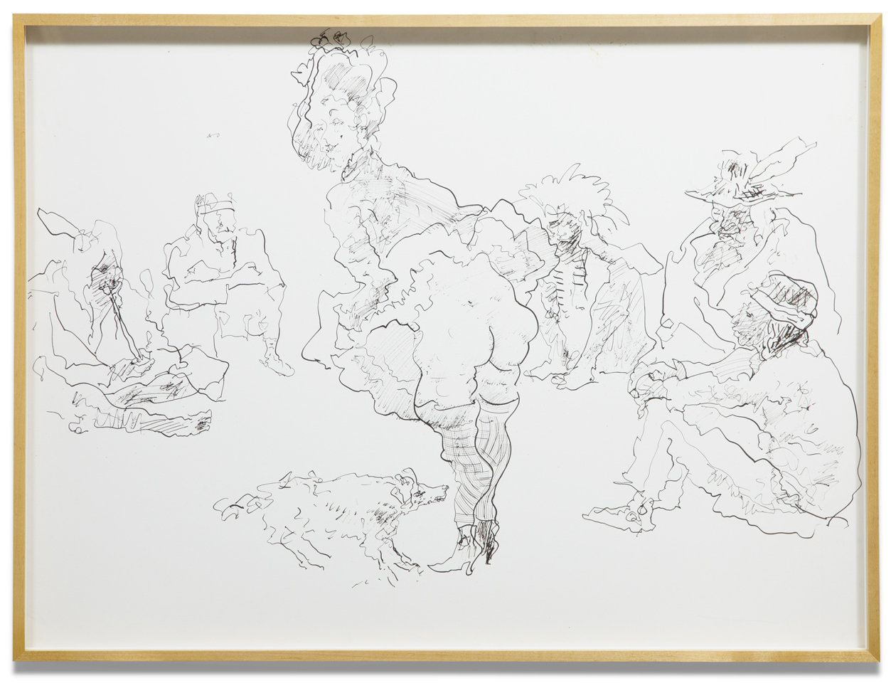 John Altoon,  Untitled (CI-28-B&W) , 1968, ink on paper, 30 x 40 inches