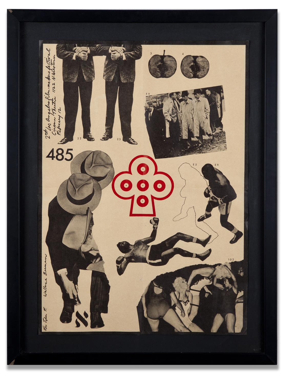 """Wallace Berman, """"Untitled (2nd Annual LA Filmmakers Festival),"""" 1963, poster, 17 1/2 x 12 inches"""