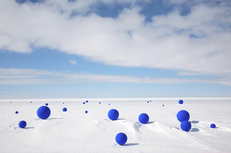 Lita Albuquerque, Southern Cross , 2014 (from Stellar Axis: Antarctica, Ross Ice Shelf, Antarctica, 2006). Inkjet print, 50 x 60 inches. Photograph by Jean De Pomereu. Photo courtesy of the artist.
