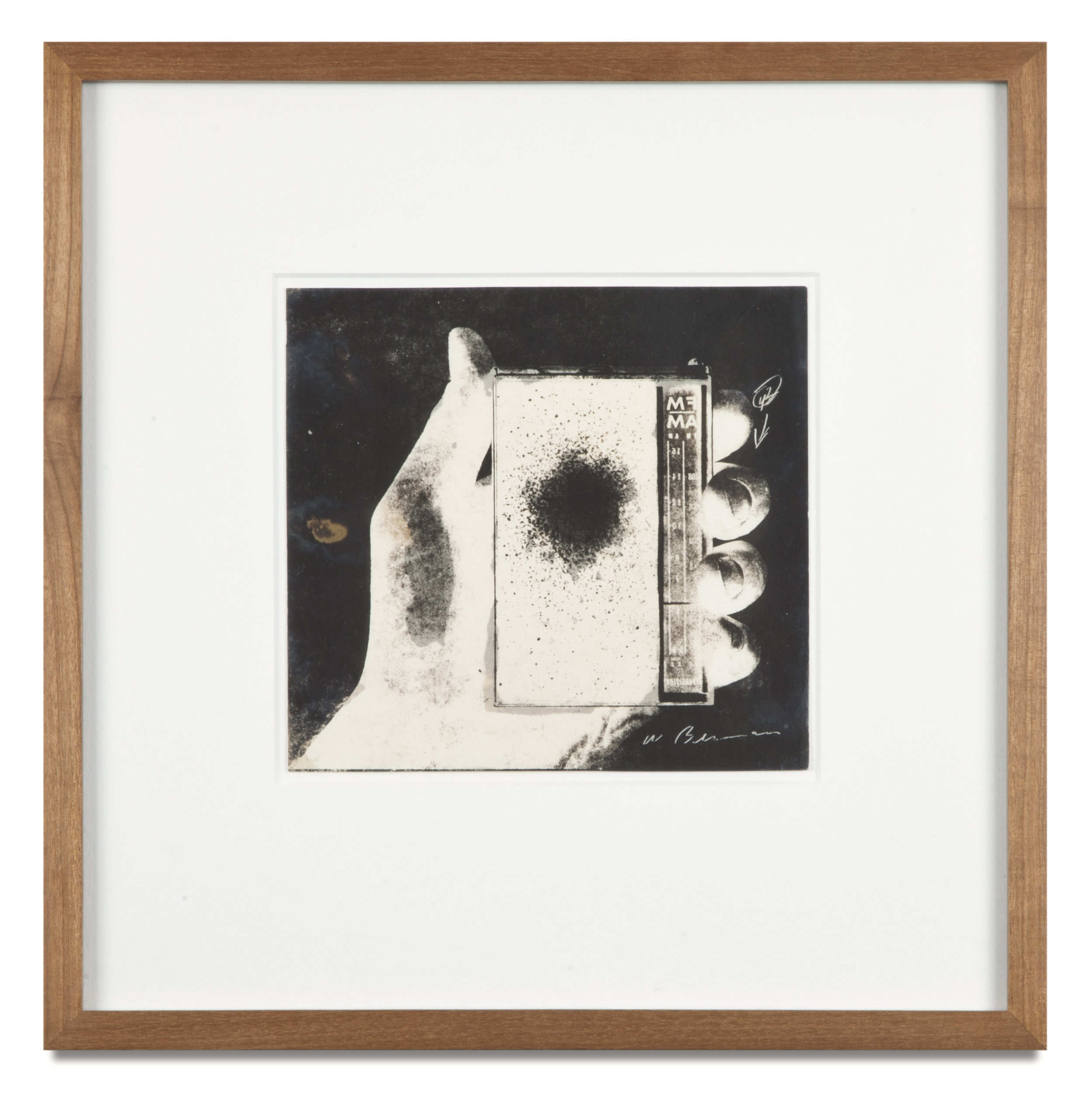 "Copy of ""Untitled #35 (Cosmos)"" , c. 1964-76, Verifax collage, 6 x 6 1/2 inches, framed 12 x 12 1/2 inches"