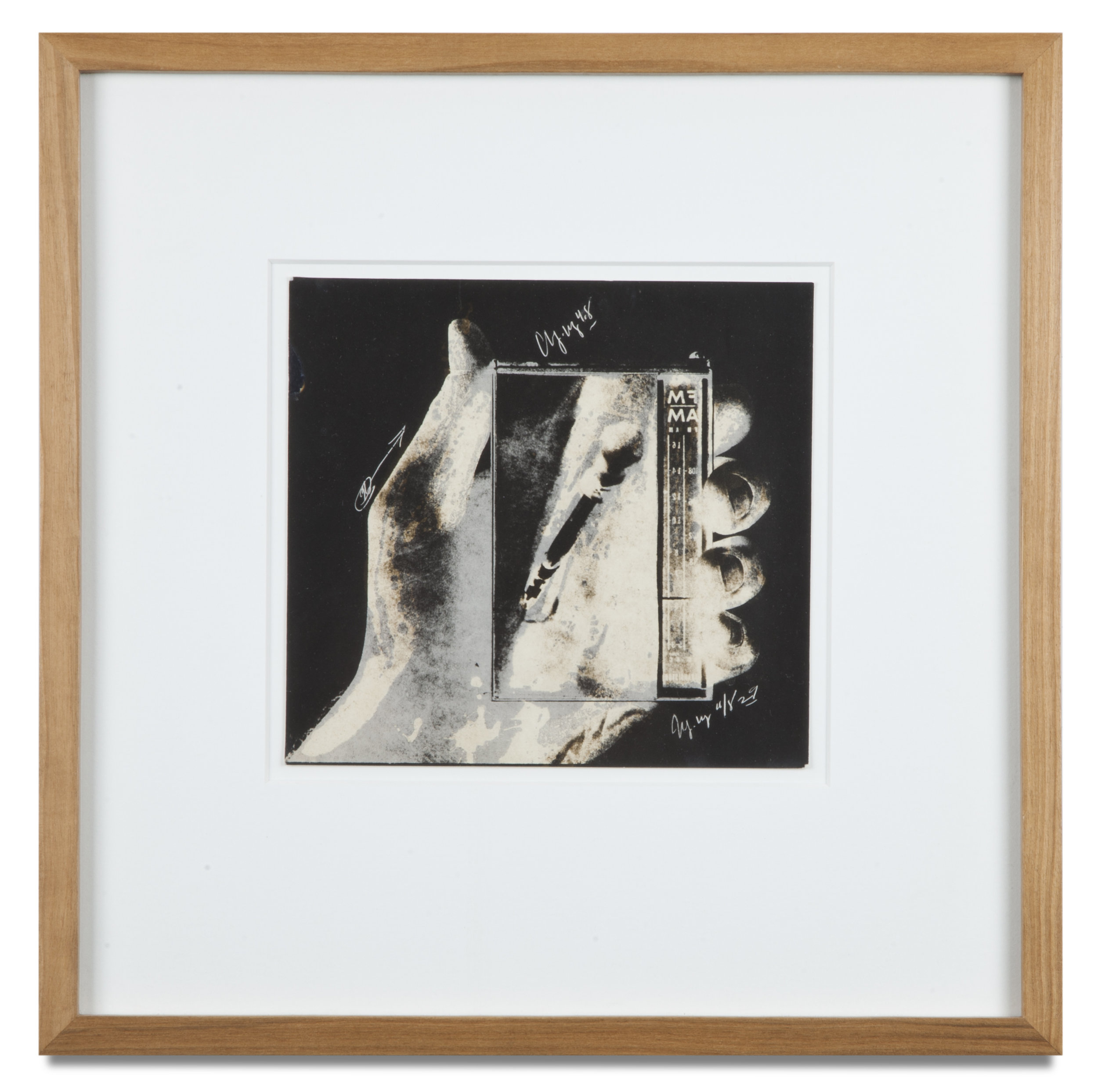 "Copy of ""Untitled #49"" , c. 1964-76, Verifax collage, 6 x 6 1/2 inches, framed 12 x 12 1/2 inches"