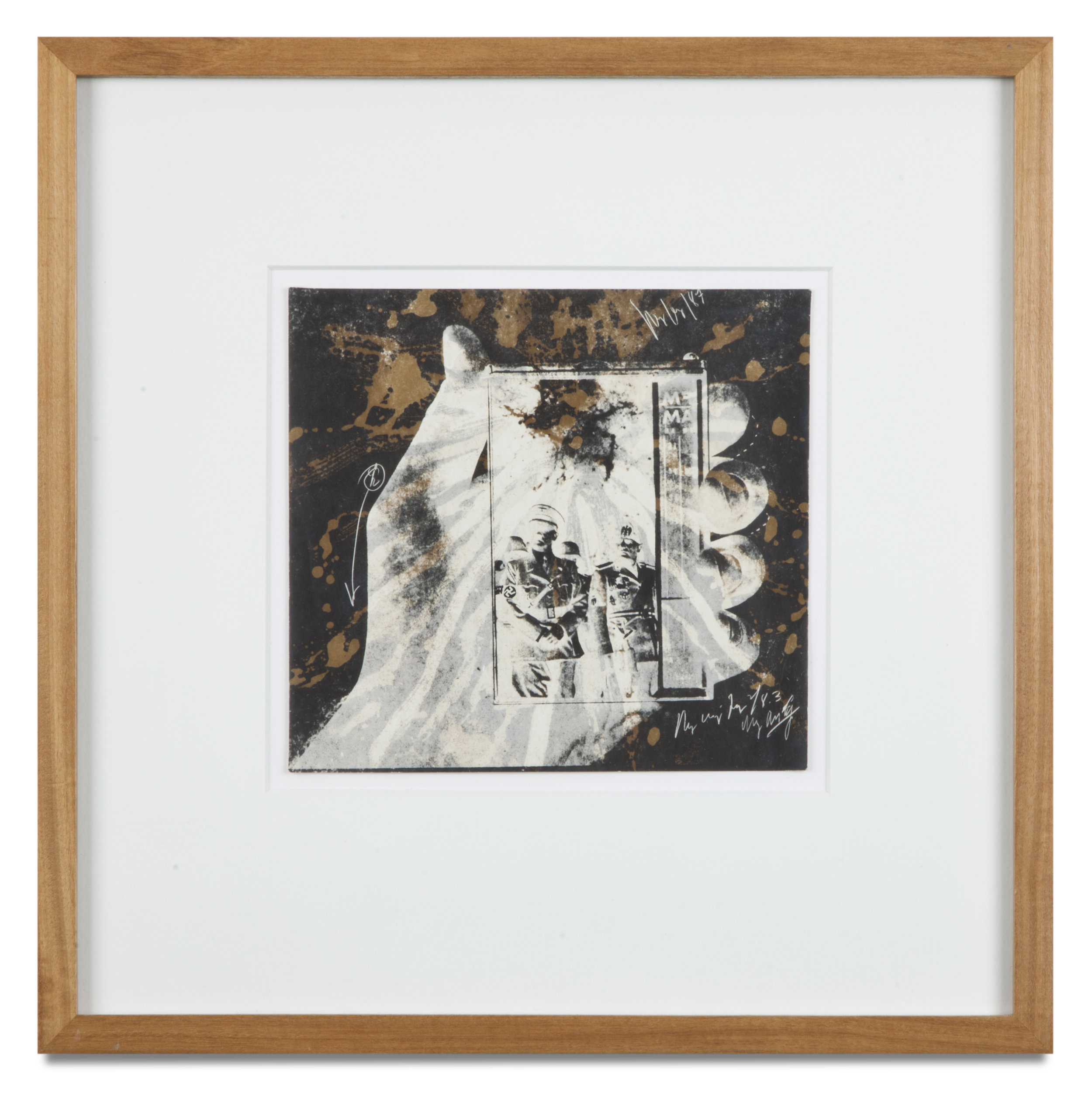 "Copy of ""Untitled #40"" , c. 1964-76, Verifax collage, 6 x 6 1/2 inches, framed 12 x 12 1/2 inches"