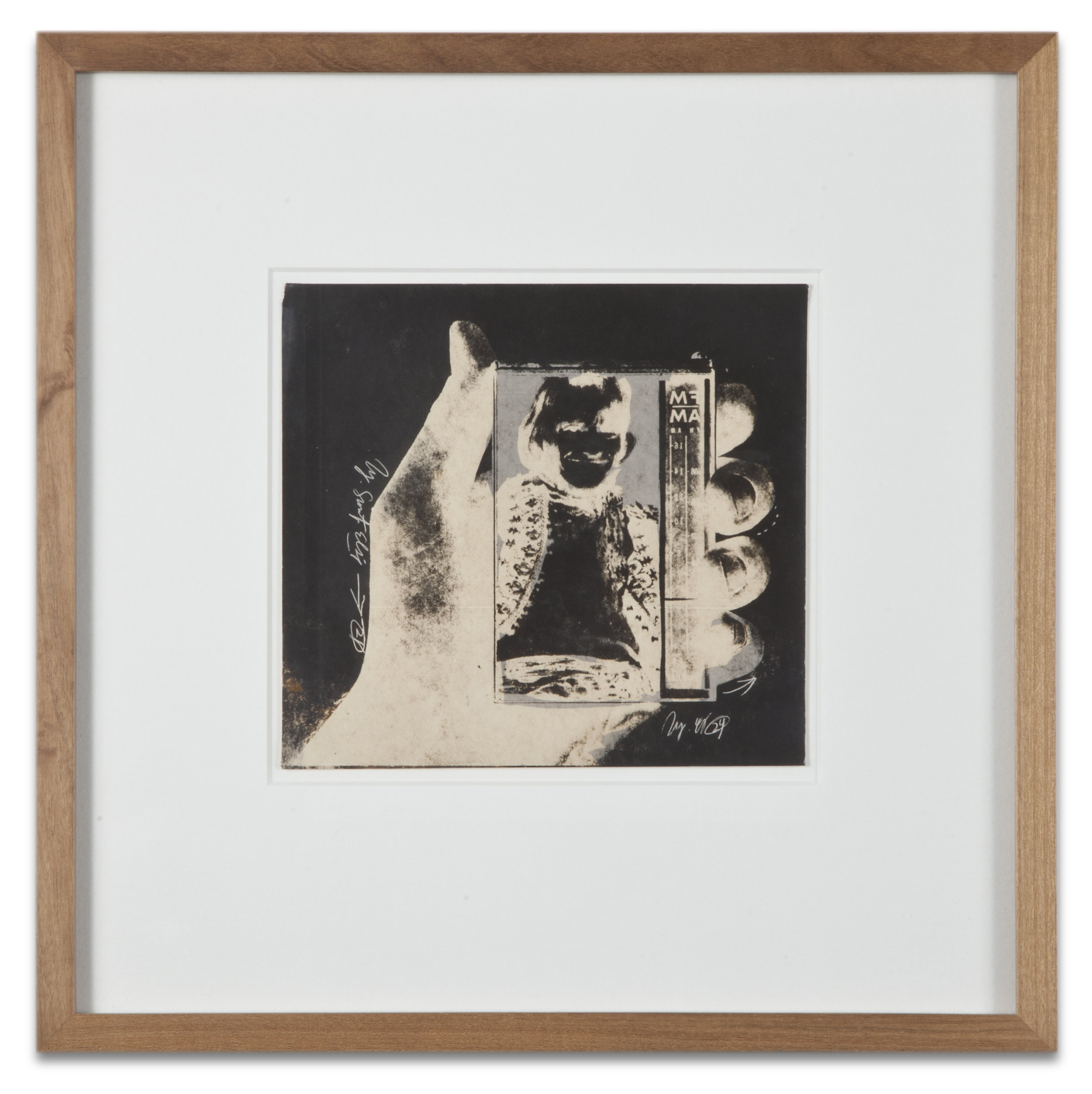 "Copy of ""Untitled #58"" , c. 1964-76, Verifax collage, 6 x 6 1/2 inches, framed 12 x 12 1/2 inches"