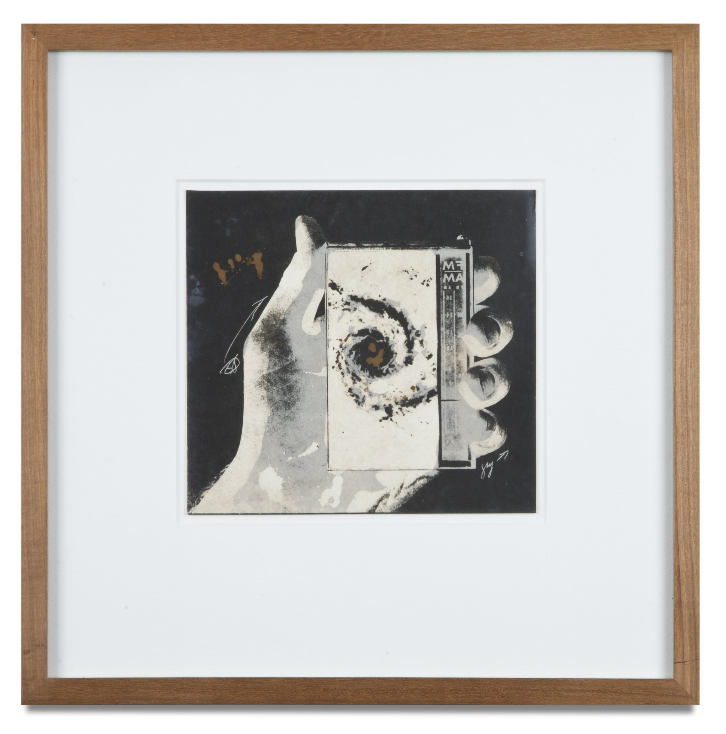 "Copy of ""Untitled #79"" , c. 1964-76, Verifax collage, 6 x 6 1/2 inches, framed 12 x 12 1/2 inches"