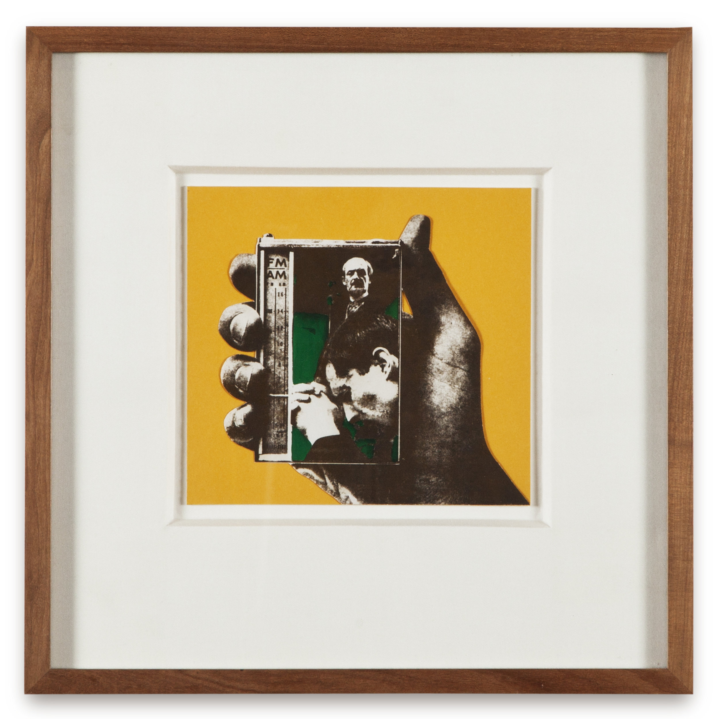 "Copy of ""Untitled #119"" , c. 1964-76, Verifax collage with acrylic, 6 x 6 1/2 inches, framed 12 x 12 1/2 inches"