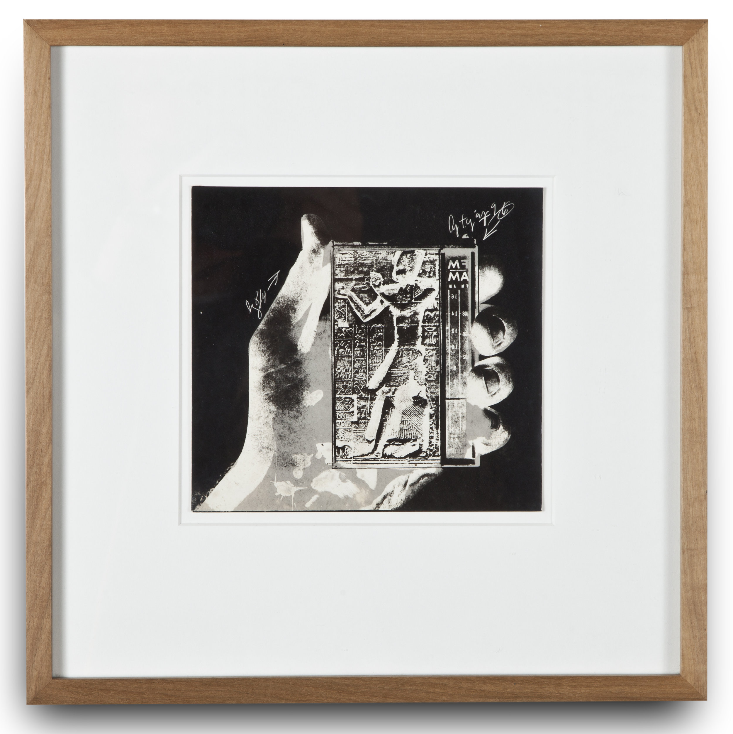 "Copy of ""Untitled #102"" , c. 1964-76, Verifax collage, 6 x 6 1/2 inches, framed 12 x 12 1/2 inches"