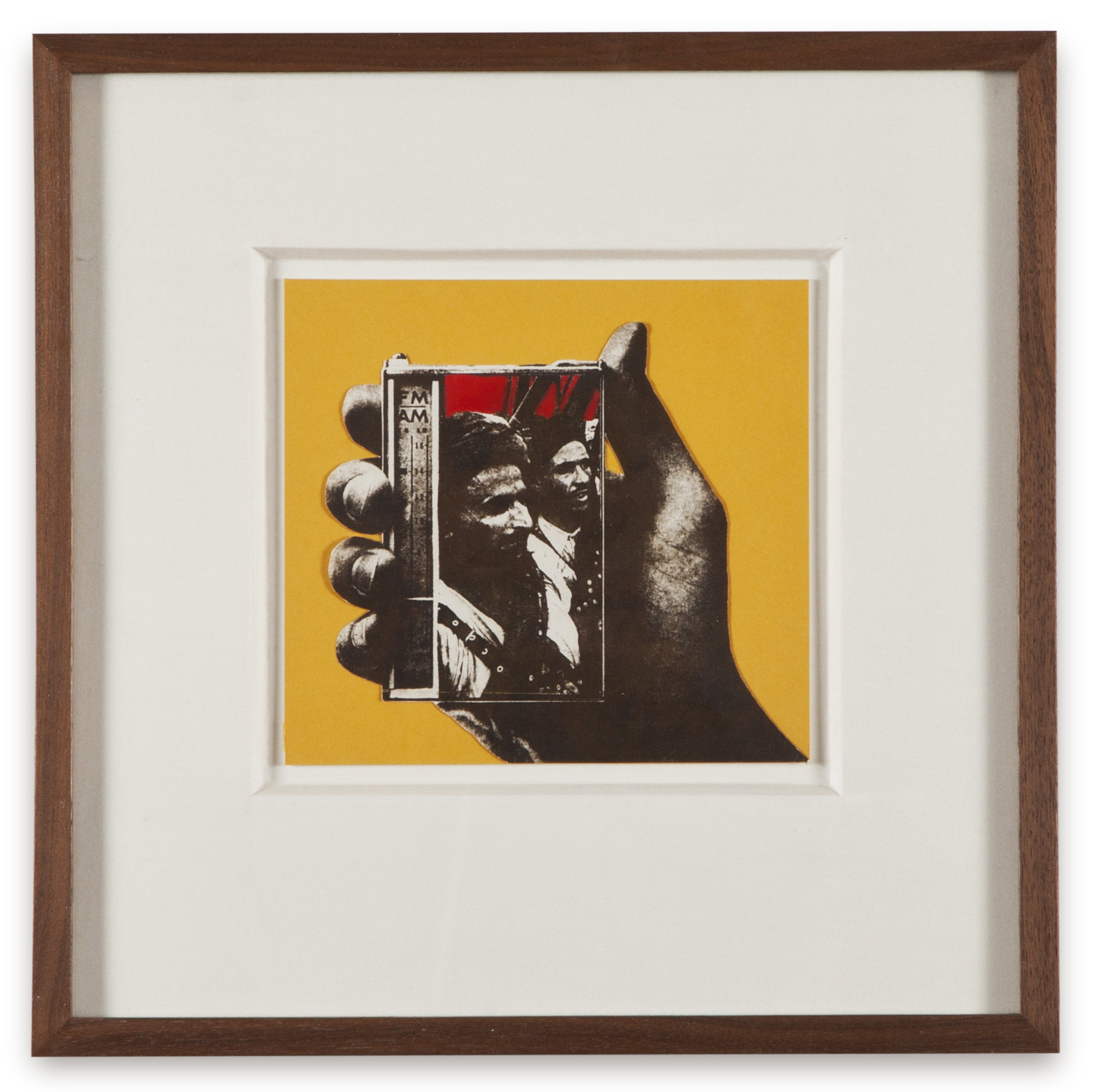 "Copy of ""Untitled #123"" , c. 1964-76, Verifax collage with acrylic, 6 x 6 1/2 inches, framed 12 x 12 1/2 inches"