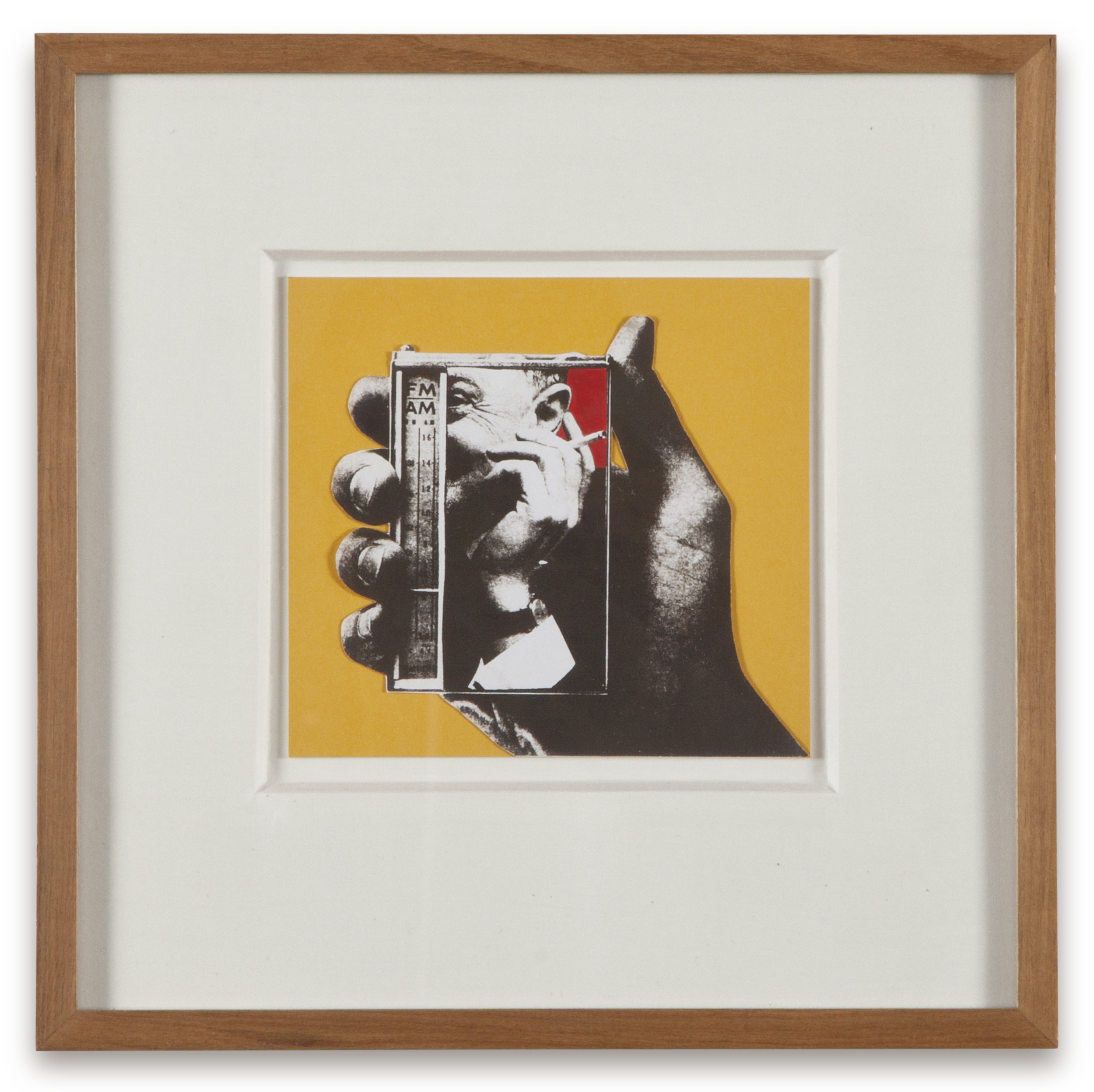 "Copy of ""Untitled #124"" , c. 1964-76, Verifax collage with acrylic, 6 x 6 1/2 inches, framed 12 x 12 1/2 inches"