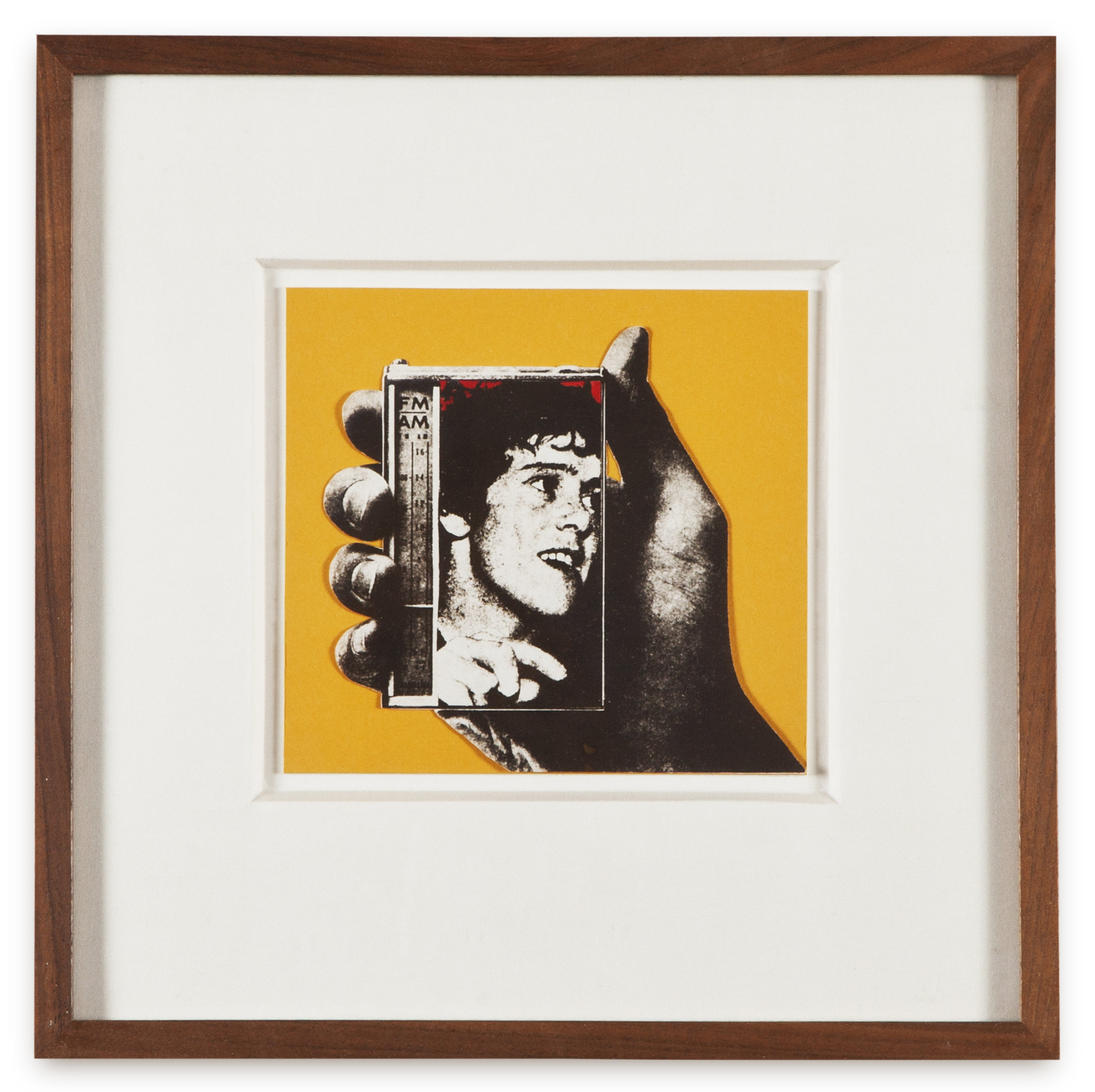 "Copy of ""Untitled #127"" , c. 1964-76, Verifax collage with acrylic, 6 x 6 1/2 inches, framed 12 x 12 1/2 inches"