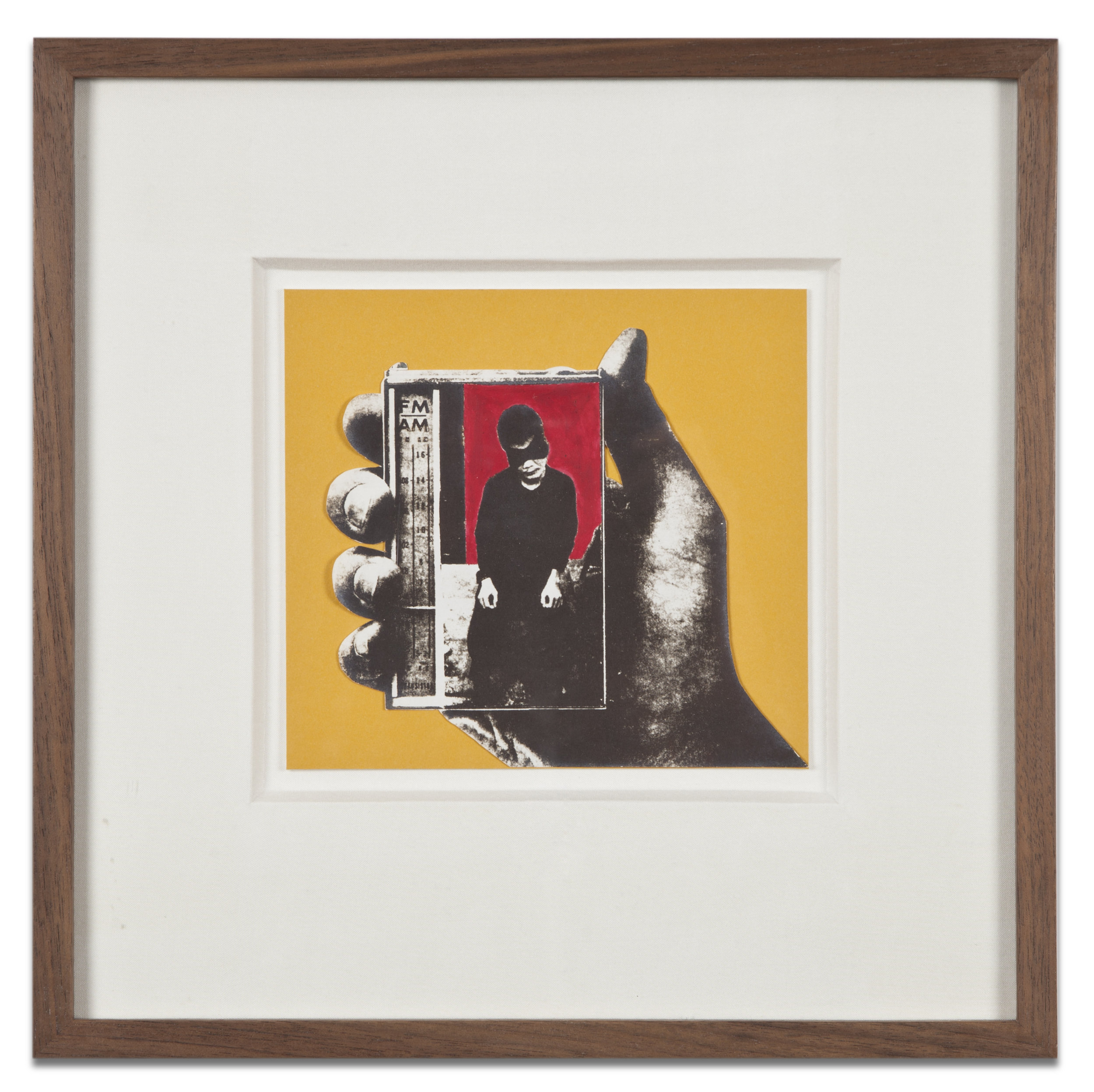 "Copy of ""Untitled #128"" , c. 1964-76, Verifax collage with acrylic, 6 x 6 1/2 inches, framed 12 x 12 1/2 inches"
