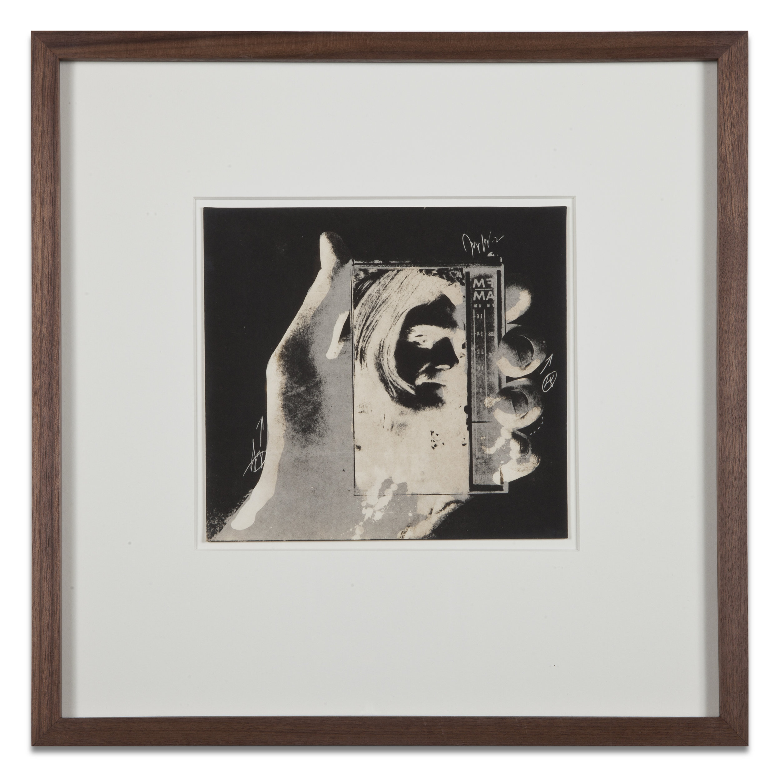 "Copy of ""Untitled #64"" , c. 1964-76, Verifax collage, 6 x 6 1/2 inches, framed 12 x 12 1/2 inches"