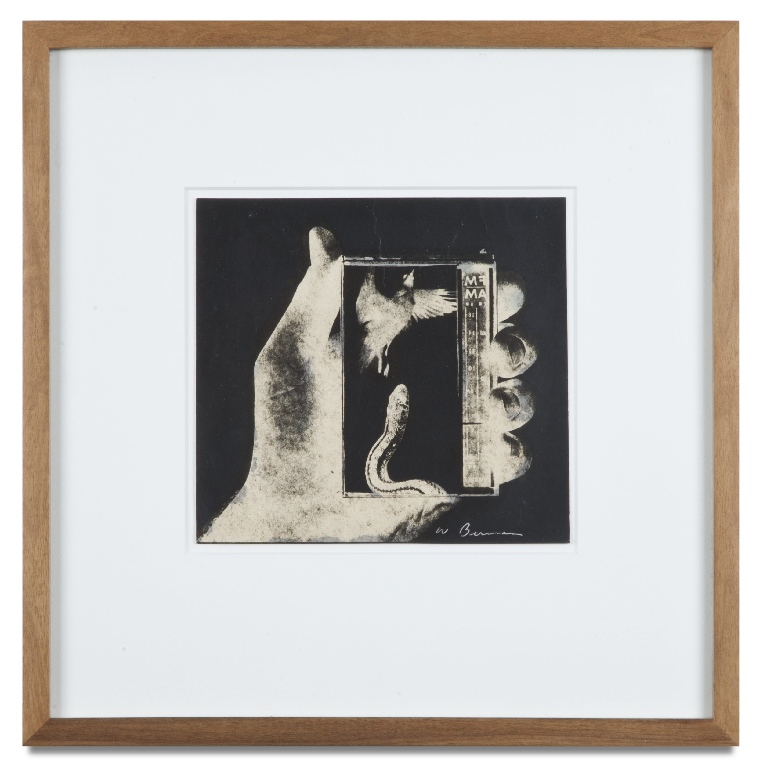 "Copy of ""Untitled #13"" , c. 1964-76, Verifax collage, 6 x 6 1/2 inches, framed 12 x 12 1/2 inches"