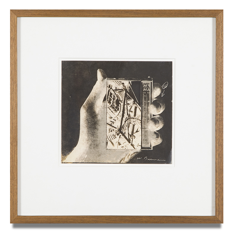 "Copy of ""Untitled #7"" , c. 1964-76, Verifax collage, 6 x 6 1/2 inches, framed 12 x 12 1/2 inches"