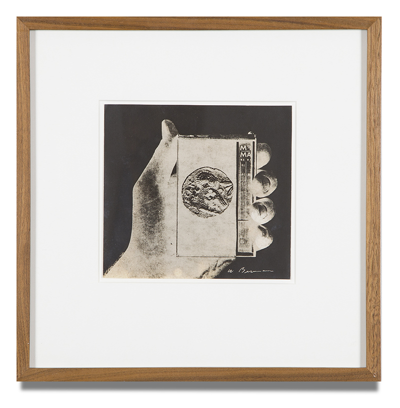 "Copy of ""Untitled #21"" , c. 1964-76, Verifax collage, 6 x 6 1/2 inches, framed 12 x 12 1/2 inches"