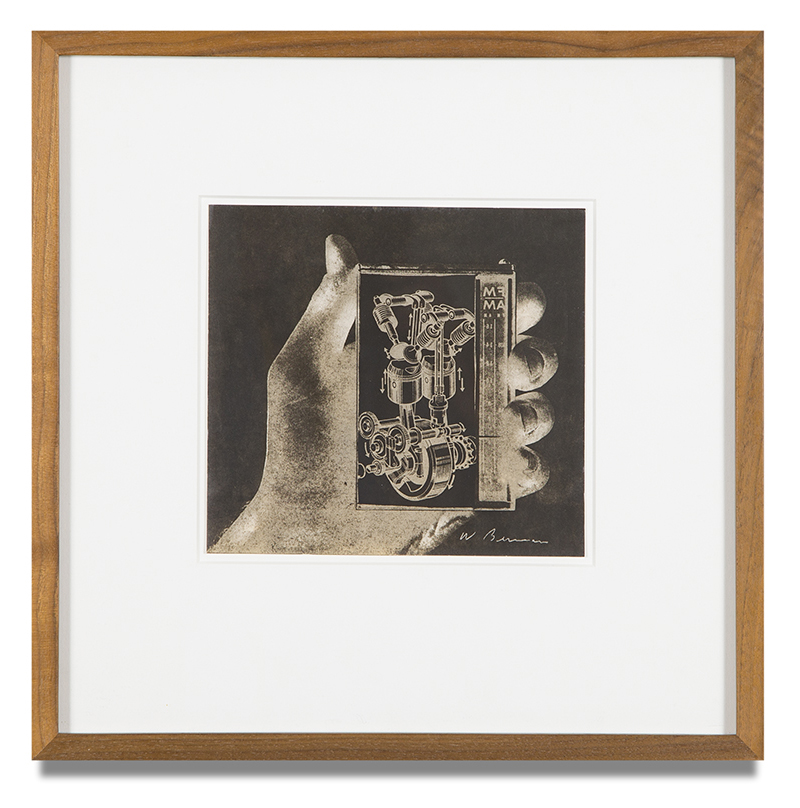 "Copy of ""Untitled #22"" , c. 1964-76, Verifax collage, 6 x 6 1/2 inches, framed 12 x 12 1/2 inches"