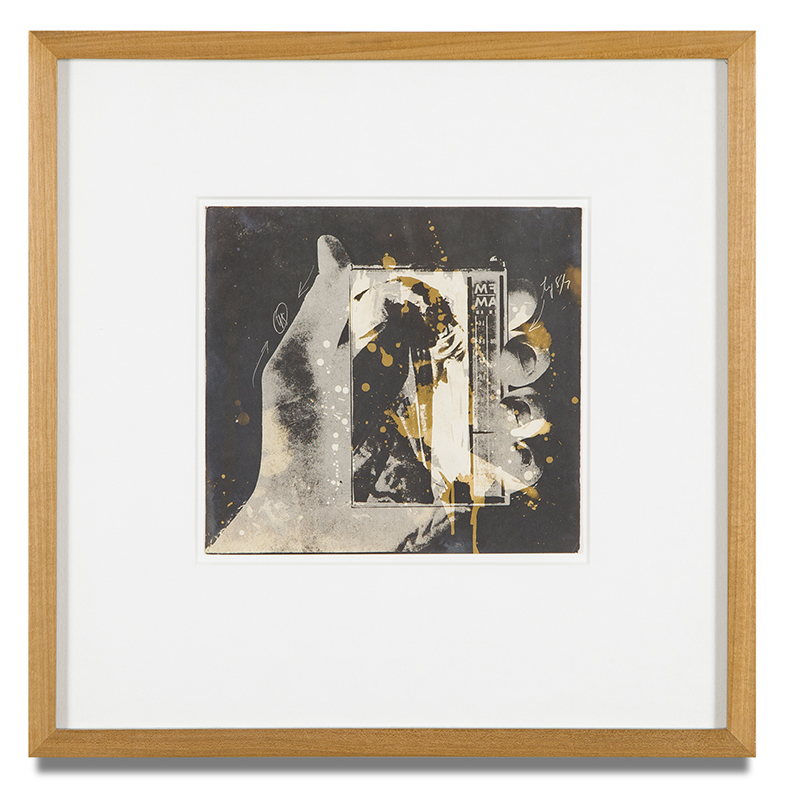 "Copy of ""Untitled #51"" , c. 1964-76, Verifax collage, 6 x 6 1/2 inches, framed 12 x 12 1/2 inches"