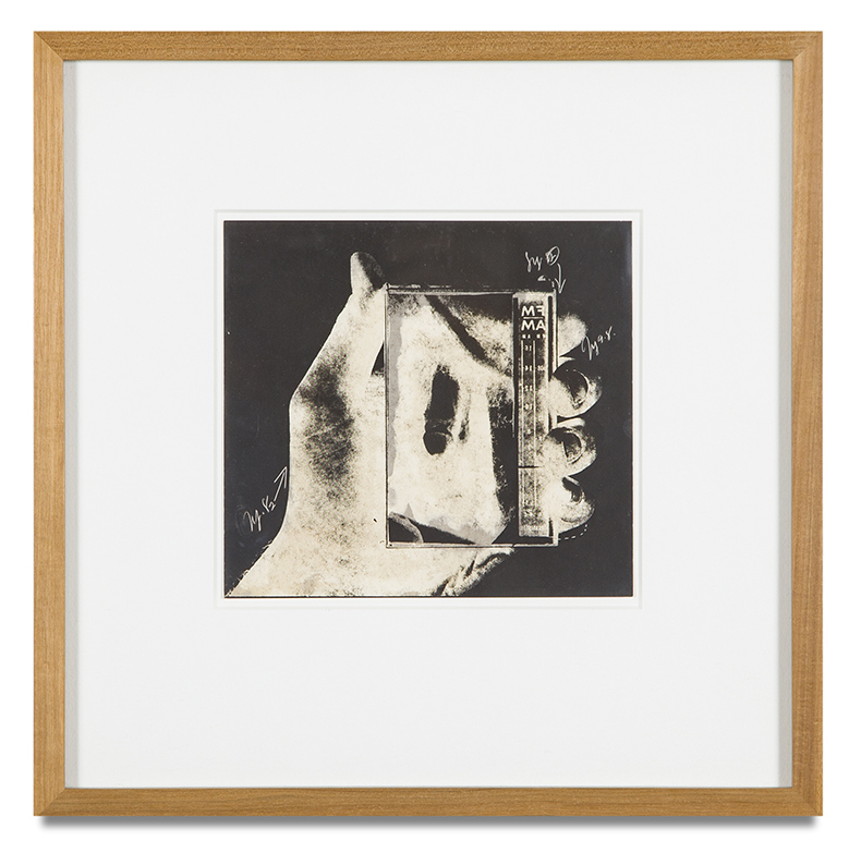 "Copy of ""Untitled #61"" , c. 1964-76, Verifax collage, 6 x 6 1/2 inches, framed 12 x 12 1/2 inches"