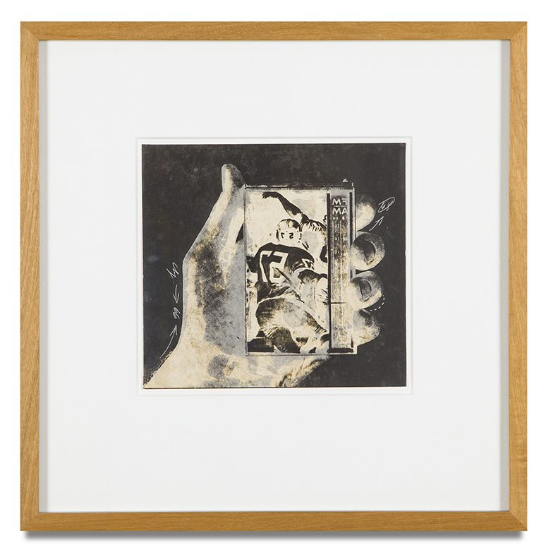 "Copy of ""Untitled #82"" , c. 1964-76, Verifax collage, 6 x 6 1/2 inches, framed 12 x 12 1/2 inches"