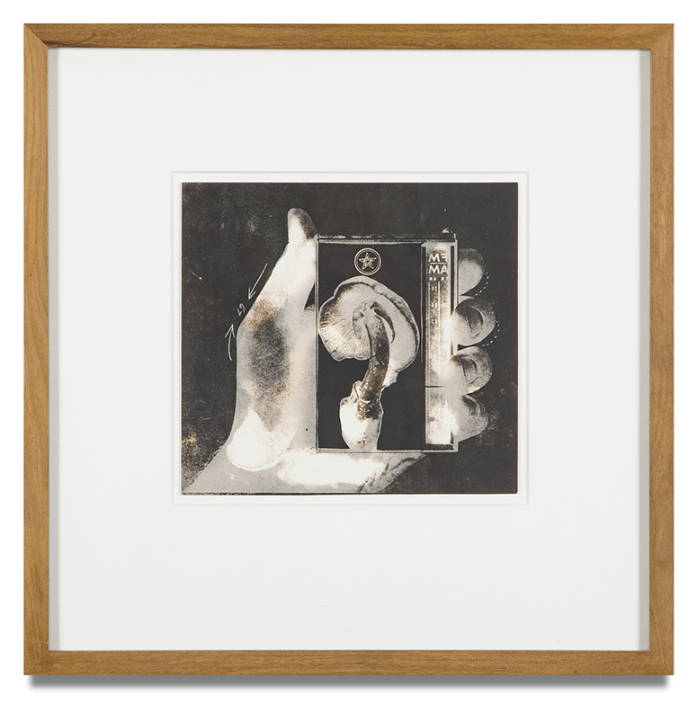 "Copy of ""Untitled #86"" , c. 1964-76, Verifax collage, 6 x 6 1/2 inches, framed 12 x 12 1/2 inches"