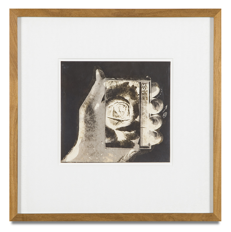 "Copy of ""Untitled #88"" , c. 1964-76, Verifax collage, 6 x 6 1/2 inches, framed 12 x 12 1/2 inches"