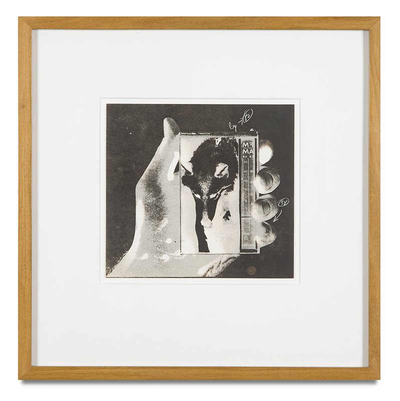 "Copy of ""Untitled #91"" , c. 1964-76, Verifax collage, 6 x 6 1/2 inches, framed 12 x 12 1/2 inches"