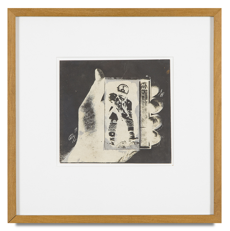 "Copy of ""Untitled #107"" , c. 1964-76, Verifax collage, 6 x 6 1/2 inches, framed 12 x 12 1/2 inches"