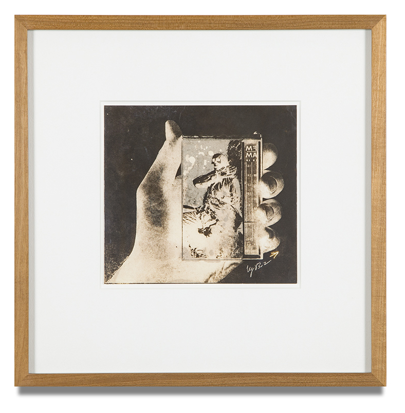 "Copy of ""Untitled #109"" , c. 1964-76, Verifax collage, 6 x 6 1/2 inches, framed 12 x 12 1/2 inches"