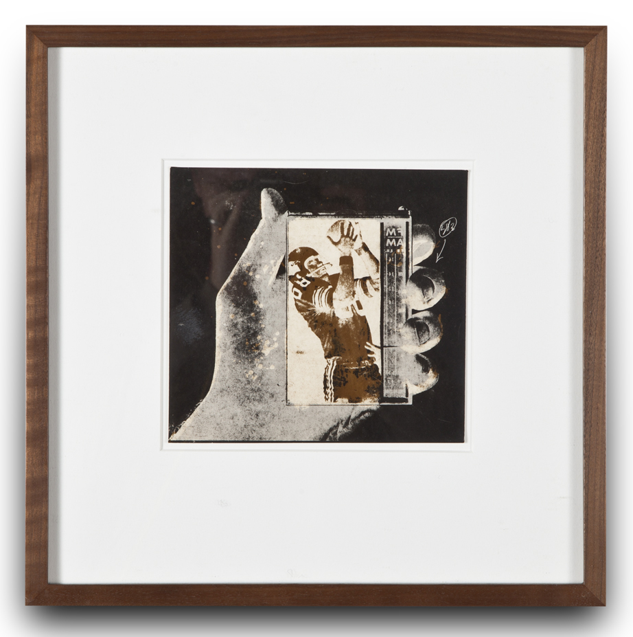 "Copy of ""Untitled #53"" , c. 1964-76, Verifax collage, 6 x 6 1/2 inches, framed 12 x 12 1/2 inches"