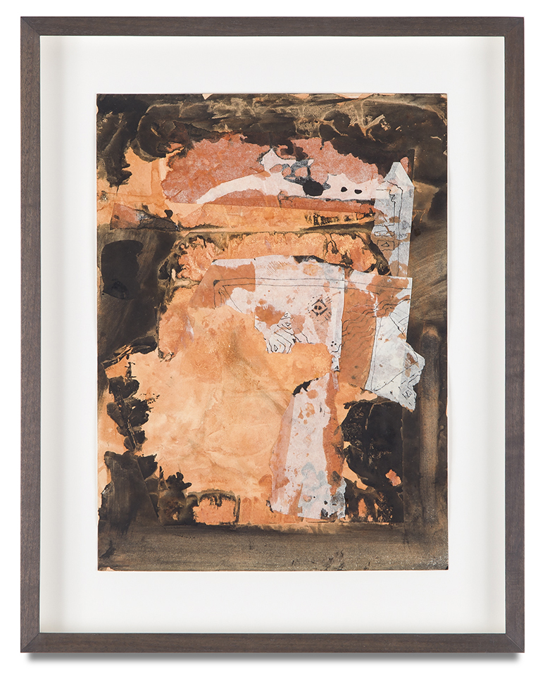 "Bruce Conner, ""UNTITLED"", 1962, mixed media collage, 15 3/4 x 12 1/4 inches"