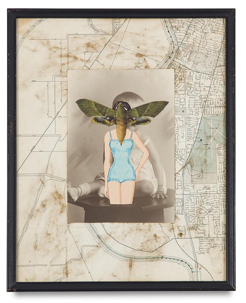"Tony Berlant, ""Sacramento"", 1964, paper collage, 14 3/4 x 11 3/4 inches"