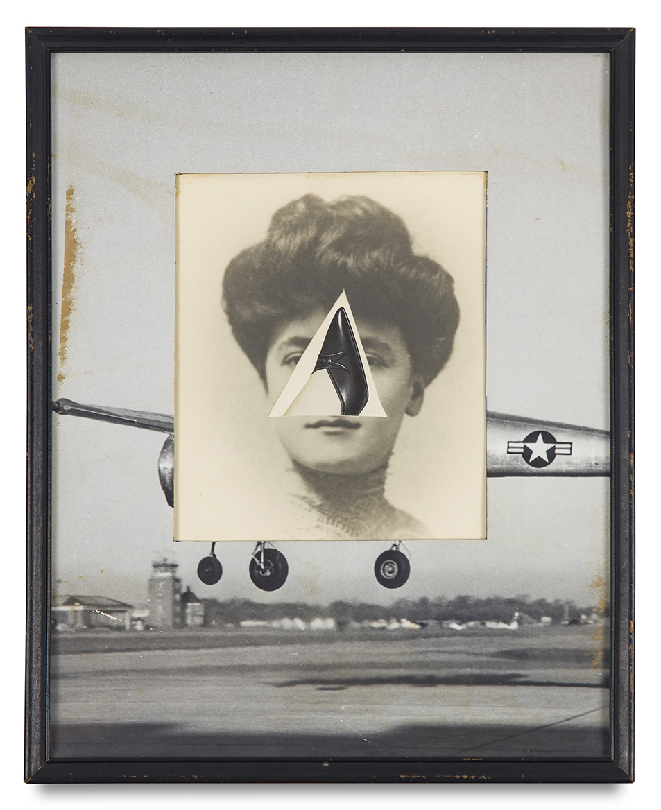 "Tony Berlant, ""A Shirt Flight"", 1964, paper collage, 14 3/4 x 11 3/4 inches"