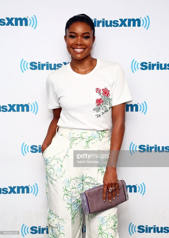 Gabrielle Union, October 2017, Garnet Oval Ring
