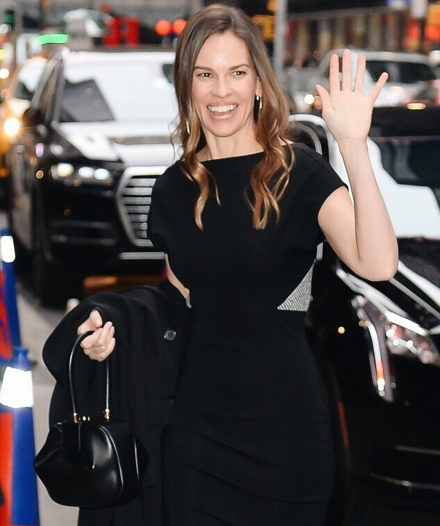 Hilary Swank, March 2018, Split Diamond Earrings
