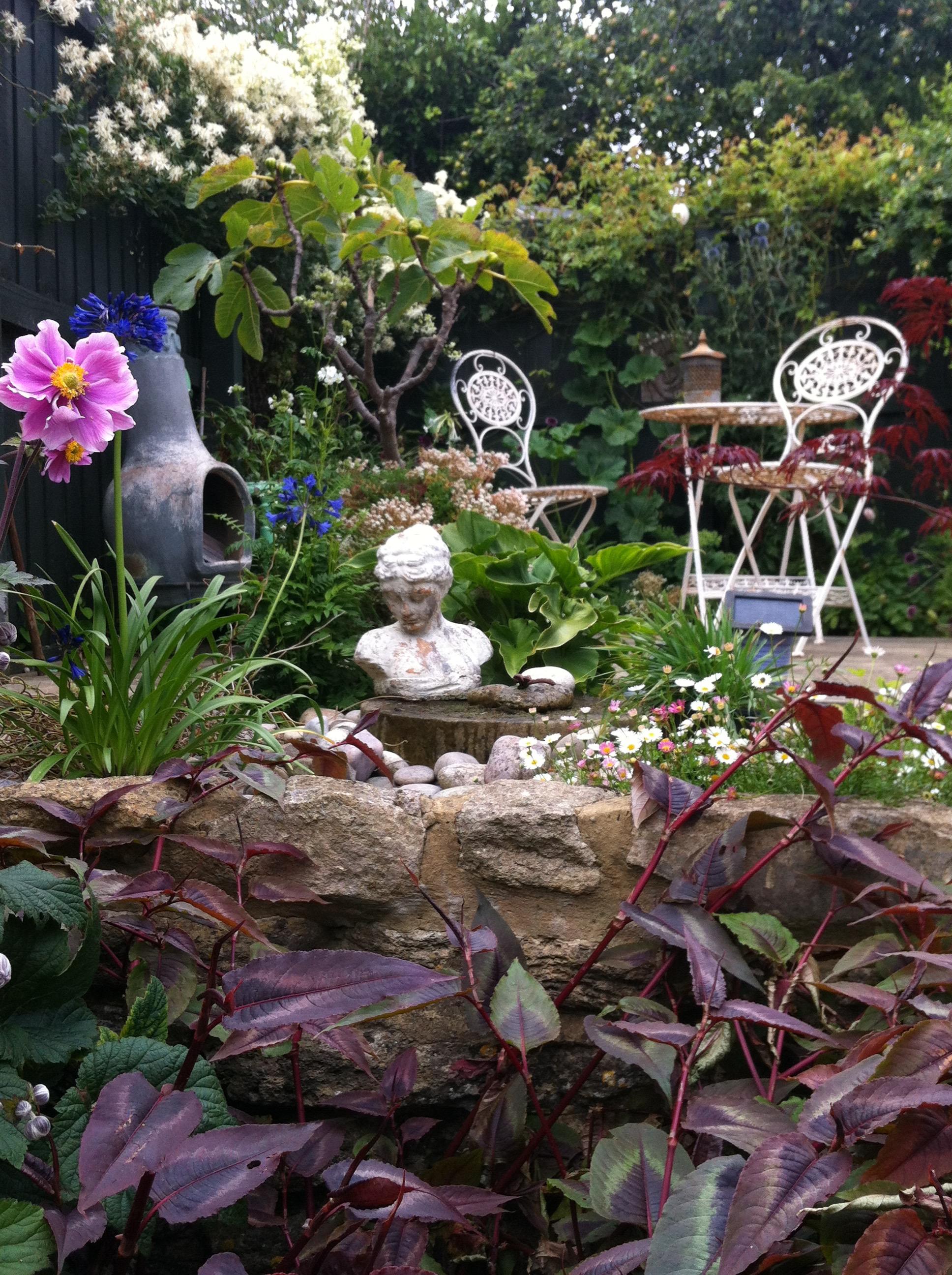 After: Secret garden water feature