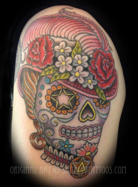 Victorian Lady Sugar Skull