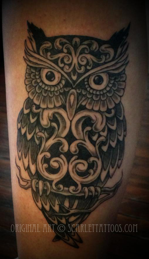 Victorian Ornamental Owl