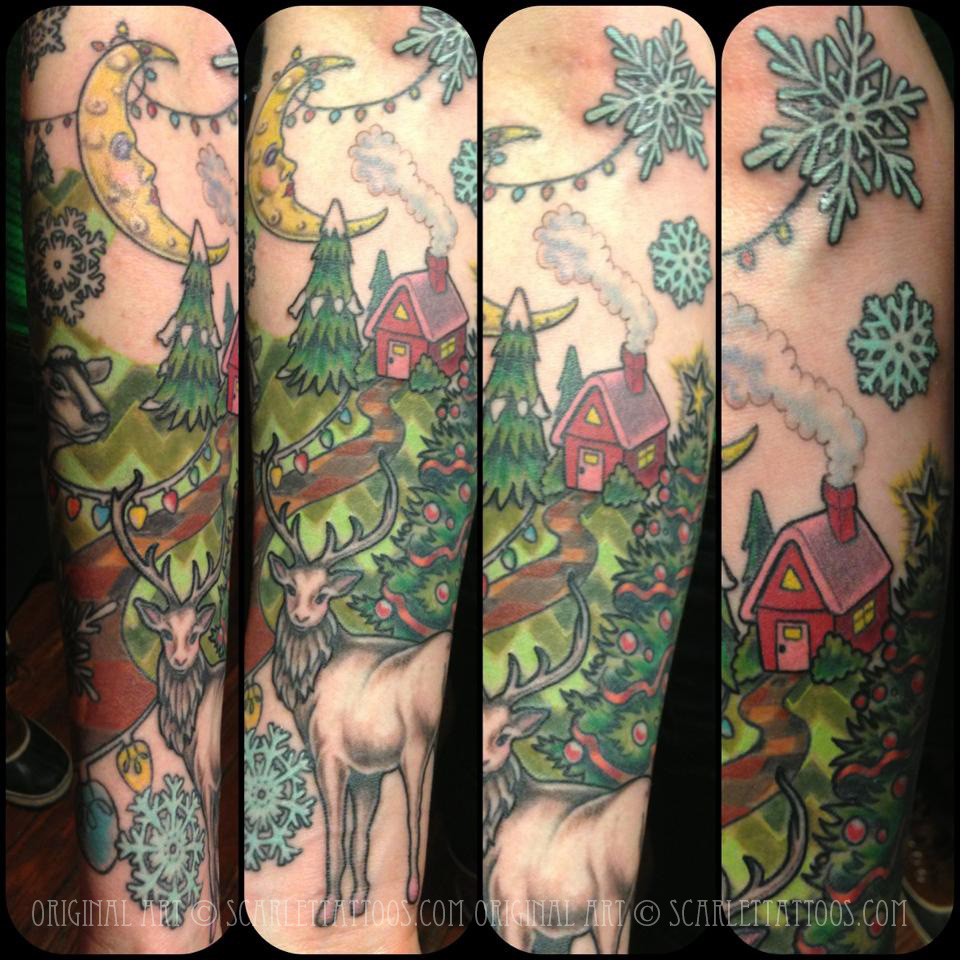 Christmas Acid Trip half sleeve