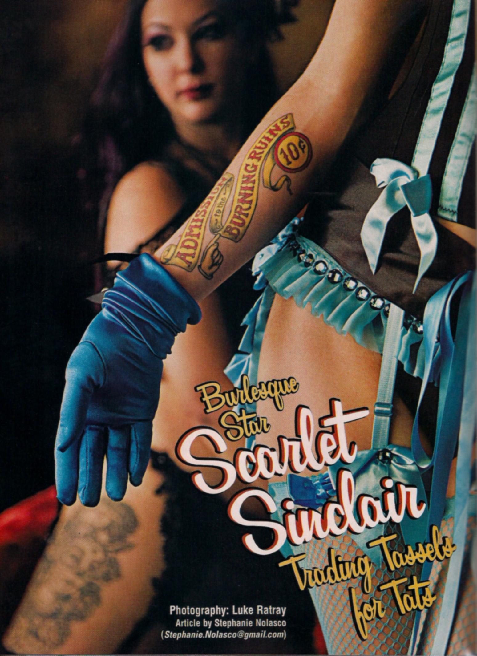 Above La Maia and Nasty Canasta (forearm tattoo). Photo by Luke Ratray.
