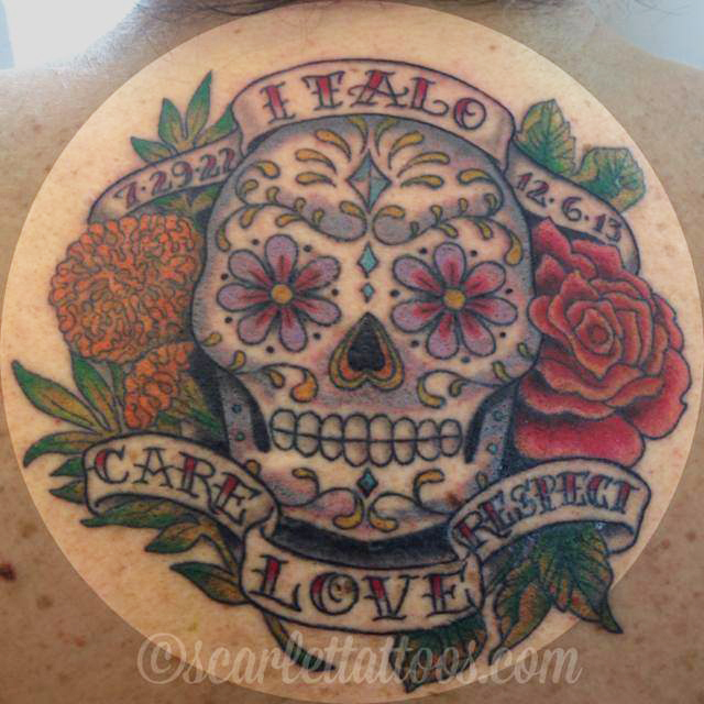 Sugarskull Memorial Tattoo